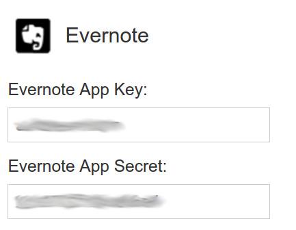 Enter the keys in the developer portal