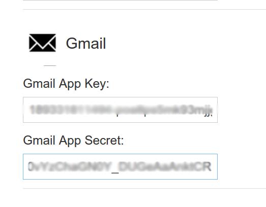 enter the App Key and App Secret for your app in the Filestack developer portal