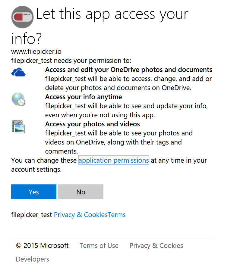 Test that your OneDrive application works